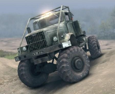 Скачать мод грузовик КРАЗ с защитой кабины для Spintires 2013