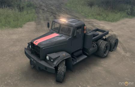 Скачать мод грузовик КРАЗ с колесами от КамАЗа для Spintires 2013