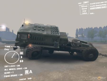 Скачать мод грузовик МАЗ 4x4 для Spintires 2013
