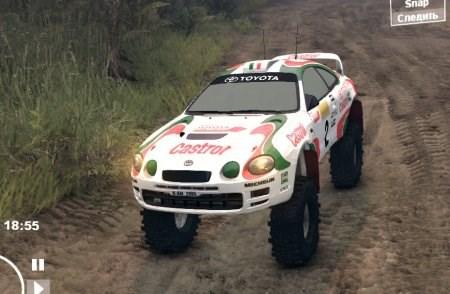 Скачать мод Toyota Celica с большими колесами для Spintires