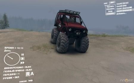 Скачать мод на машину Suzuki Samurai для Spintires 2013