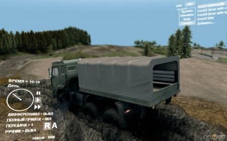 Скачать мод грузовик КаМАз монстер с кузовом для Spintires 2013 DEV DEMO