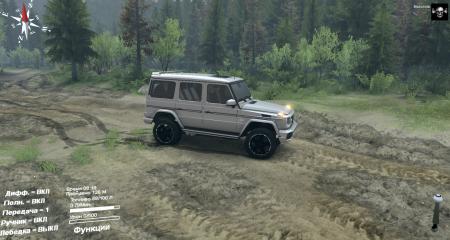 Скачать мод Mercedes-Benz G класс (Гелик) для Spintires 2014