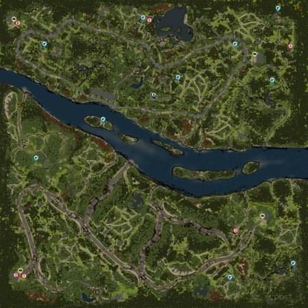 Открытая карта Широкая река Spintires 2014