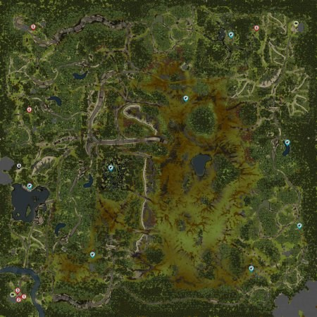 Открытая карта Равнины Spintires 2014