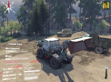Скачать мод трактор Т150к для Spintires 2014 с ковшом