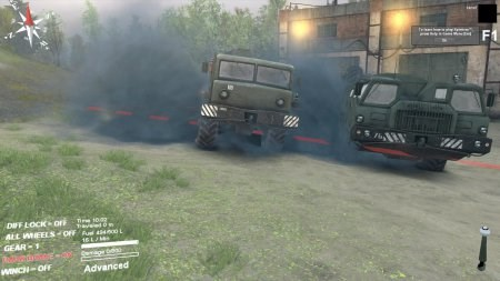 Скачать мод больше дыма от грузовиков и машин для Spintires 2014