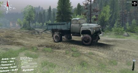 Скачать мод грузовик ГАЗ 52 для Spintires 2014