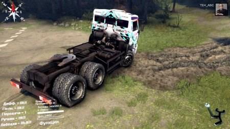 Скачать мод спортивный грузовик КАМАЗ для Spintires 2014