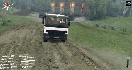 Скачать мод грузовик Mercedes-Benz Actros для Spintires 2014