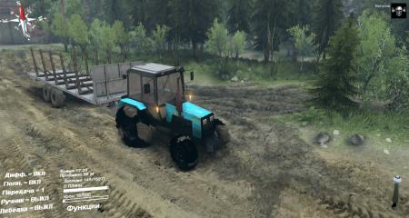 Скачать мод Трактор МТЗ-1221 беларус для Spintires 2014