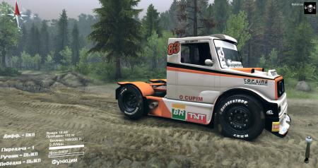 Скачать мод грузовик Mercedes-Benz Boessio Competicoes Spintires 2014