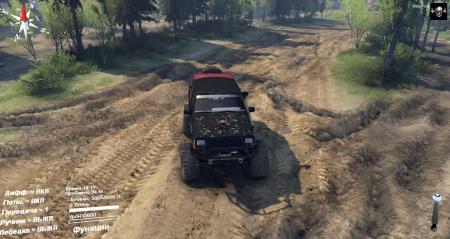 Скачать мод Jeep Cherokee XJ с новыми скинами для Spintires 2014
