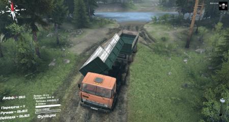 Скачать мод грузовик КАМАЗ-55102 с прицепом для Spintires 2014