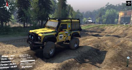 Скачать мод Land Rover Defender 90 для Spintires 2014