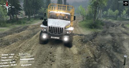 Скачать мод грузовик Урал 4320-0911-30 для Spintires 2014