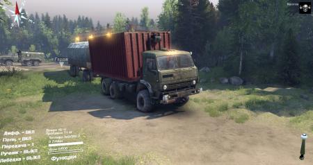 Скачать мод грузовик КамАЗ 43101 для Spintires 2014