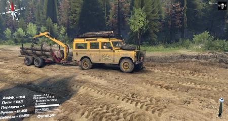 Скачать мод Land Rover series 3 для Spintires 2014