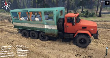 Скачать мод грузовик КРАЗ-7140 для Spintires 2014