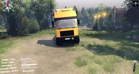 Скачать мод грузовик MAN F2000 19414 TANDEM для Spintires 2014