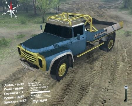 Скачать мод грузовик ЗИЛ-130 Rally Cross для Spintires 2014