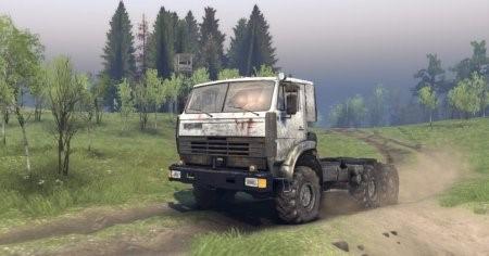 КамАЗ-4311 и ЯМЗ-238 для Spin Tires