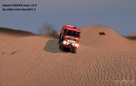 Карта DAKAR map v 0.5 для Spintires 2013 DEV DEMO