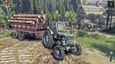 """Скачать мод """"Трактор Т-40АМ v1.1"""" для Spintires 2014"""