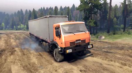 Скачать мод грузовик КамАЗ 6х6 v1.1 для spintires 2014