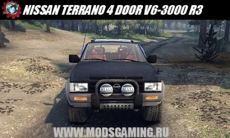 Скачать мод NISSAN TERRANO 4 DOOR V6-3000 R3 - SPIN TIRES 2014