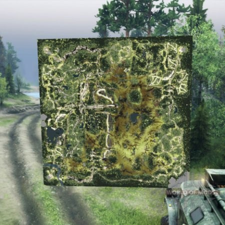 Мод Голографическая карта лесника для Spintires 2014