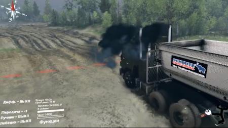 Скачать мод грузовик Kamaz-5410J для Spintires 2014