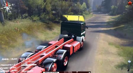 Скачать мод грузовик RÁBA-MAN truck + trailer для SpinTires 2014