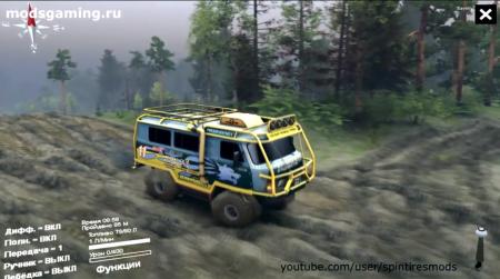 Скачать мод УАЗ-3909 off road для Spintires 2014
