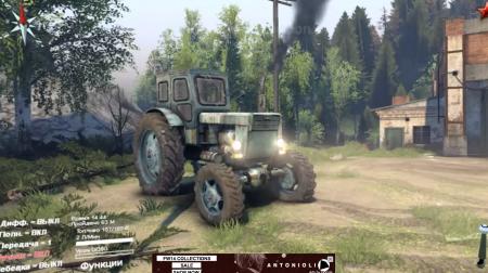 """Скачать мод """"Трактор Т-150К v1.1"""" для Spintires 2014"""