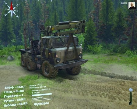 Скачать мод грузовик KAMAGAZ-6x6 (4 in 1) для SpinTires 2014