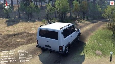Скачать мод УАЗ-3170 beta для SpinTires 2014