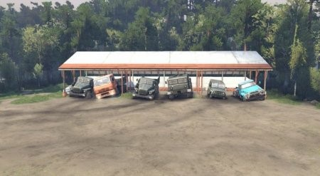 Навес (вместо гаража) для SpinTires 2014