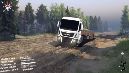 Скачать мод грузовик MAN Spintires 2014