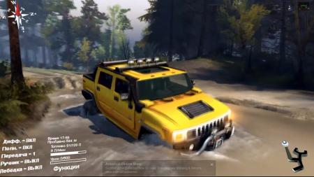 Скачать мод Hummer H2 SUT v1.5 Spintires 2014