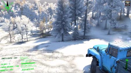 "Мод ""Падающий снег"" для SpinTires 2014"