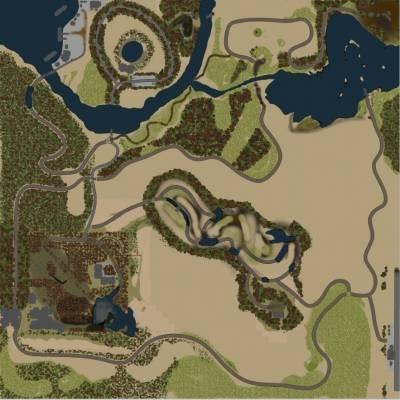 Карта Desert Challenge (пустыня) для Spintires 2014, 2015