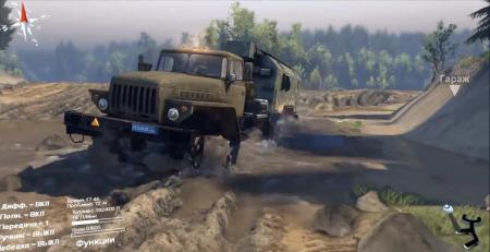 Скачать мод грузовики Урал 6614 и Урал Полярник для SpinTires 2014