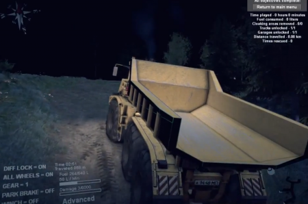 "Карта ""Russian Road map"" для SpinTires 2014"