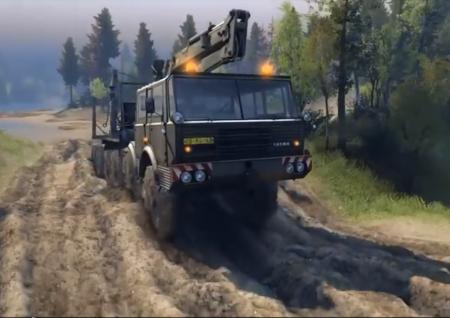 Скачать мод грузовик TATRA 813 8x8 Колос для Spintires 2014
