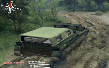 Скачать мод грузовик ГТ-СМ (ГАЗ-71) для Spintires 2014