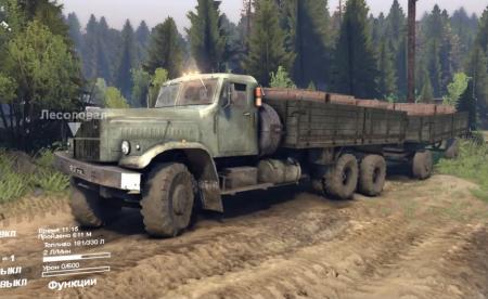 Скачать мод грузовик КрАЗ-257 v1.0 для Spintires 2014