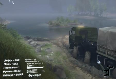 Скачать мод грузовик KAMAZ-6350 MUSTANG V1.0 – SPIN TIRES 2014