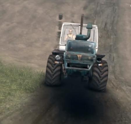 """Скачать мод трактор """"Т-150К v1.2"""" для Spintires 2014"""
