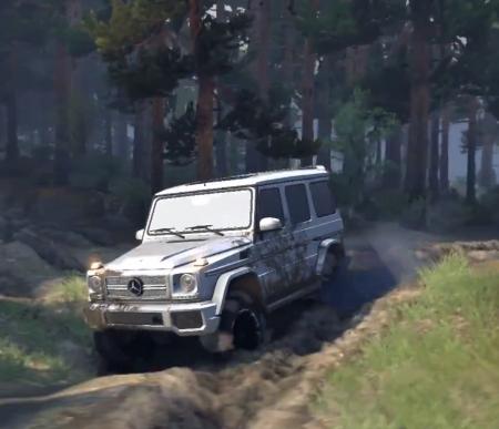 Скачать мод Mercedes-Benz Gelandewagen G65 1.0 для Spintires 2014